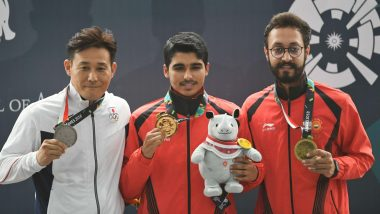 ISSF World Cup 2019: Indian Shooter Abhishek Verma Clinches Gold Medal in 10m Air Pistol Event (Watch Video)