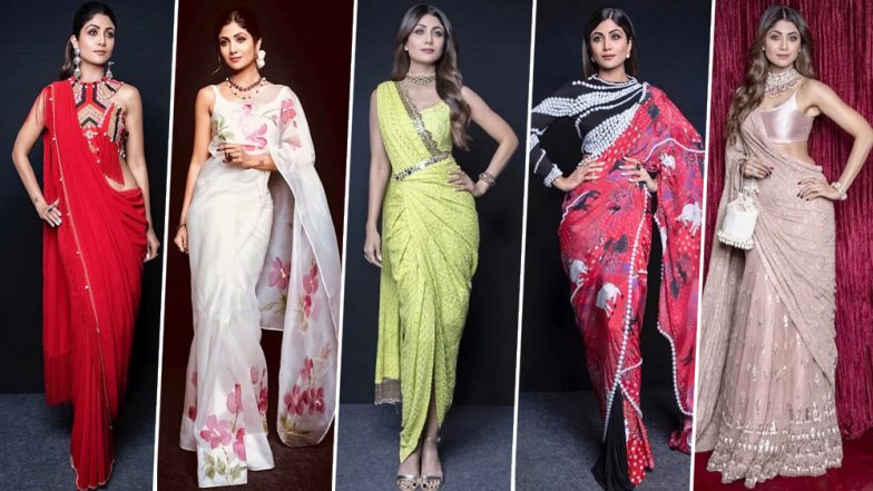 Shilpa Shetty Kundra's Saree Collection Is Treat to Sore Eyes; 10 Times the Diva Gave Us Major Desi Fashion Inspirations