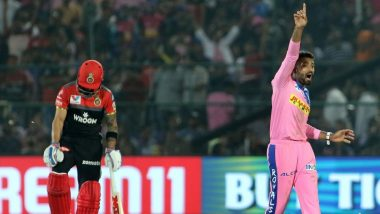 RR vs RCB Stat Highlights: Shreyas Gopal Spins Rajasthan Royals to Their First IPL 12 Victory (Watch Video)