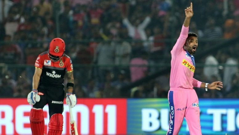 RR vs RCB Stat Highlights: Shreyas Gopal Spins Rajasthan Royals to Their First IPL 12 Victory (Watch Video)