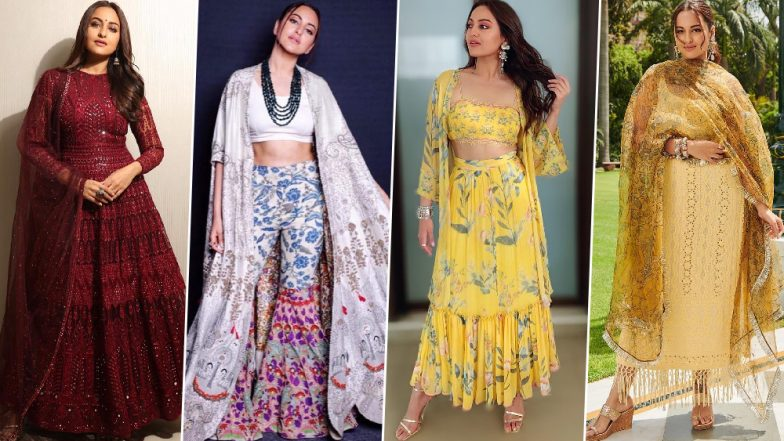 Sonakshi Sinha's Style File for Kalank Promotions was all About Prints and Dark Colours - View Pics