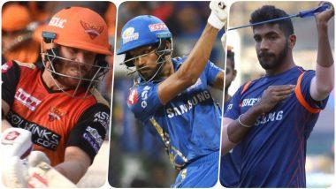 SRH vs MI, IPL 2019 Match 19, Key Players: David Warner to Hardik Pandya to Rashid Khan, These Cricketers Are to Watch Out for at Rajiv Gandhi International Stadium