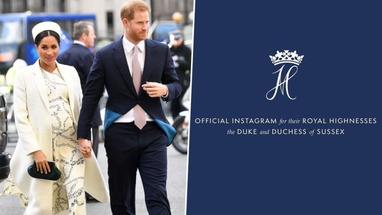 Meghan Markle and Prince Harry Officially Join Instagram and their 'Sussex Royal' Handle Has Already Registered 2 Million Followers