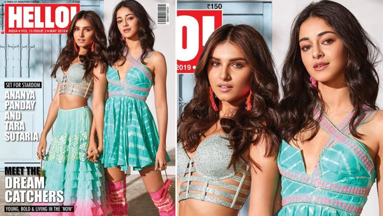 SOTY 2 Actresses Tara Sutaria and Ananya Panday Look Summer-Ready and Refreshing in Shades of Blue on the Hello Cover - See Pic!