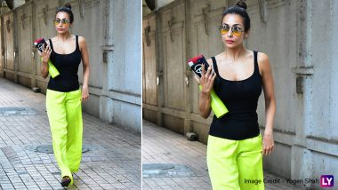 We are Digging Malaika Arora's Friday Work-Out Look With a Dash of Neon - See Pics!