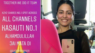 Kasautii Zindagii Kay Becomes The Number One Show and Hina Khan AKA Komolika Cannot Hide Her Overwhelming Happiness, Watch Video