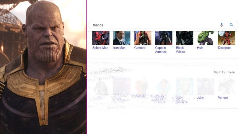 Google Turns Thanos; Wipes Away Half Search Results With One Snap of Infinity Stone Gauntlet