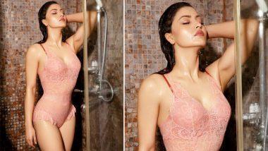 Urvashi Rautela's Pic in a Peach Lingerie Taking a Shower! Enough Said!