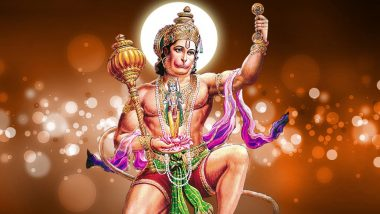 Hanuman Jayanthi Images & Jai Bajrangbali HD Wallpapers for Free Download Online: Wish Happy Hanuman Jayanti 2019 With GIF Greetings & WhatsApp Sticker Messages