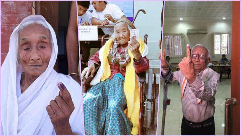 107-Year-Old Sumitra Rai Votes in Sikkim; See Pics of Senior Citizen Voters From Phase 1 of Polling for Lok Sabha Elections 2019