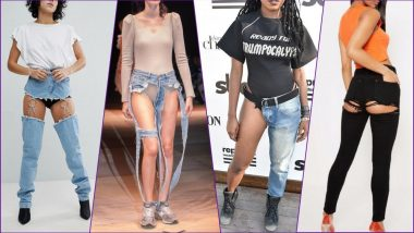 Denim Day 2019: From Thong Jeans to Butt-Ripped Denims, All the Weird Jeans Trends That Made No Sense at All!