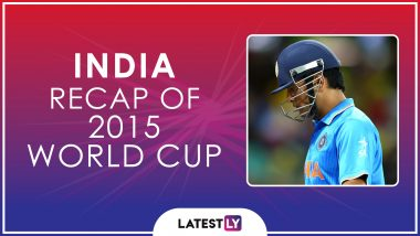 Ahead of ICC Cricket World Cup 2019, Here's a Look Back at How India Fared at the Last Edition of the CWC