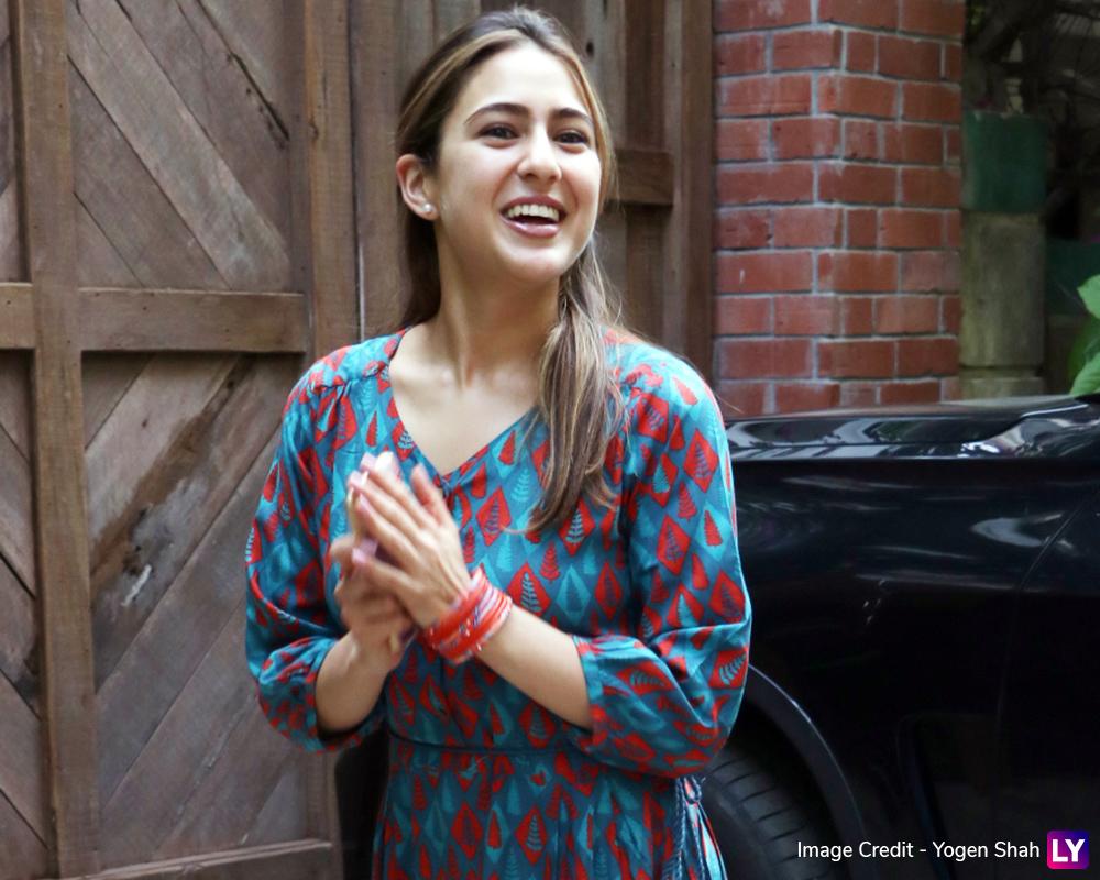 Sara Ali Khan spotted at Juhu today.