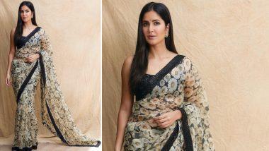 Bharat: Katrina Kaif Steps out Wearing a Sabyasachi Mukherjee Saree and All We Can Say is 'Mashallah' - View Pics