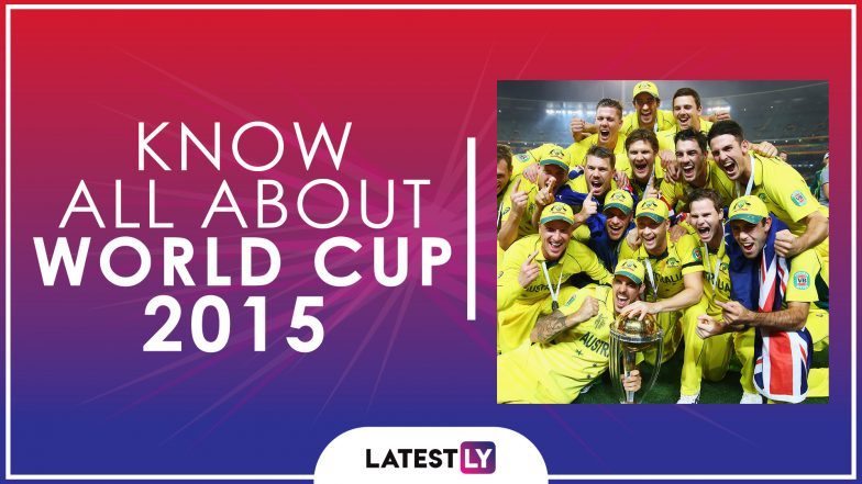 Know All About 2015 Cricket World Cup History Participants