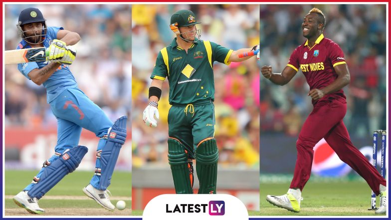 Ravindra Jadeja, Faf Du Plessis , Andre Russell And Other Athletic Fielders to Watch Out For in ICC Cricket World Cup 2019