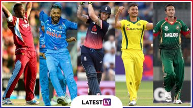 ICC Cricket World Cup 2019: Hardik Pandya, Andre Russell Among Five All-Rounders to Watch Out For