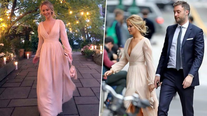 Jennifer Lawrence Looked like a Modern Day Princess at her Engagement Bash with Cooke Maroney - View Pics