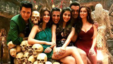 Akshay Kumar, Kriti Sanon, Riteish Deshmukh Enjoy the HouseFull of Thrones – View Pic