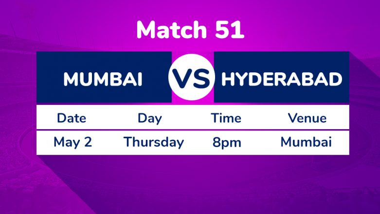 MI vs SRH, IPL 2019 Match 51 Preview: Sunrisers Hyderabad Aim to Move Up in Points Table Against Mumbai Indians