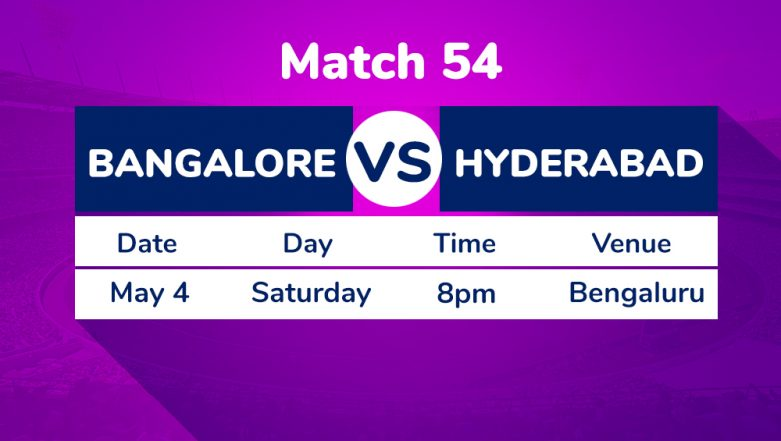 RCB vs SRH, IPL 2019 Match 54 Preview: Sunrisers Hyderabad Eye Play-Off Berth Against Royal Challengers Bangalore