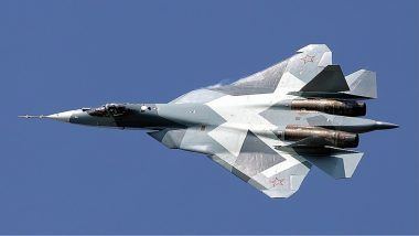 Russia's Sukhoi-57 Jets Escort President Vladimir Putin to Akhtubinsk Air Base