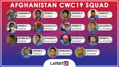 Team Afghanistan at ICC Cricket World Cup 2019: Squad, Player Profiles of Afghanistan National Cricket Team for CWC19
