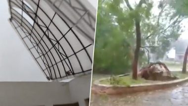 Cyclone Fani Update: AIIMS Bhubaneswar's Roof Ripped Off As 'Eye of Storm' Hits Odisha, PG Exam Cancelled; Watch Video