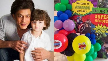 Shah Rukh Khan's Youngest Son AbRam Had A Marvel Themed Birthday Party And Here Are All The Pics