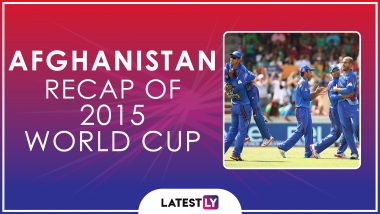 Ahead of ICC Cricket World Cup 2019, Here's a Look Back at How Afghanistan Fared at the Last Edition of the CWC