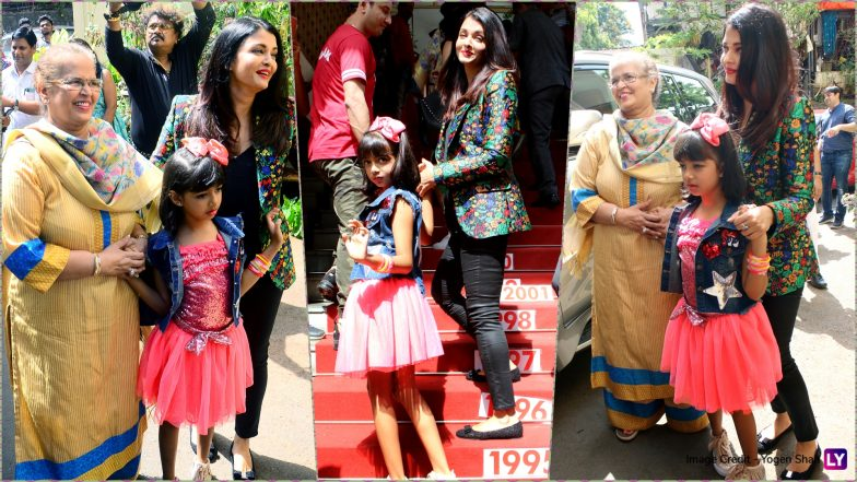 Ahead of Cannes 2019, Aishwarya Rai Bachchan Makes a Stylish Appearance to Cheer for Daughter Aaradhya at Shiamak Davar's Dance Event