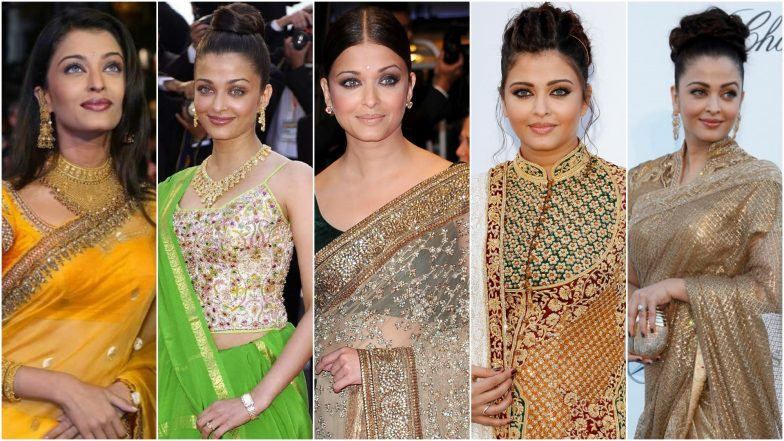Ahead of Aishwarya Rai Bachchan's Cannes 2019 Appearances, All the Times She Rocked Sarees at the Cannes Film Festival