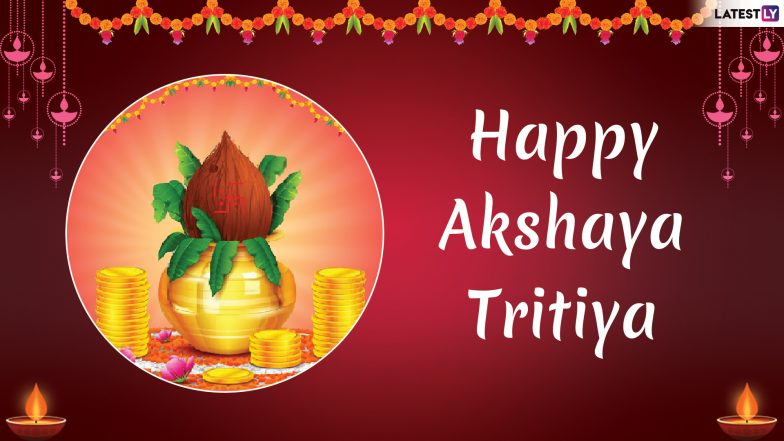 Akshaya Tritiya 2019 Messages in Hindi: WhatsApp Stickers, SMS, GIF Images, Wishes and Greetings to Send on Akha Teej