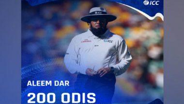 BAN vs WI: Umpire Aleem Dar Officiates in His 200th ODI