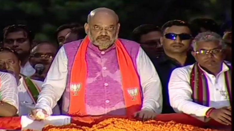 Amit Shah's Kolkata Rally Ends in Violence; TMC, BJP Workers Injured in Police Lathi-Charge