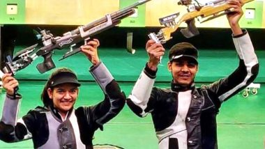 Anjum Moudgil-Divyansh Panwar Win Gold Medal at ISSF World Cup 2019; Apurvi Chandela-Deepak Kumar Settle For Silver in 10m Air Rifle Mixed Team Event