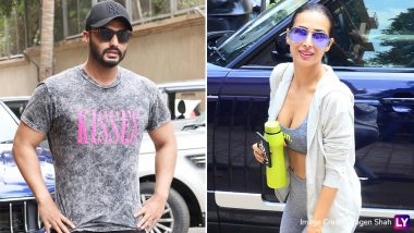 Malaika Arora Looks Super Hot in a Grey Gym Wear as She Unintentionally Twins With Arjun Kapoor! (View Pics and Video)
