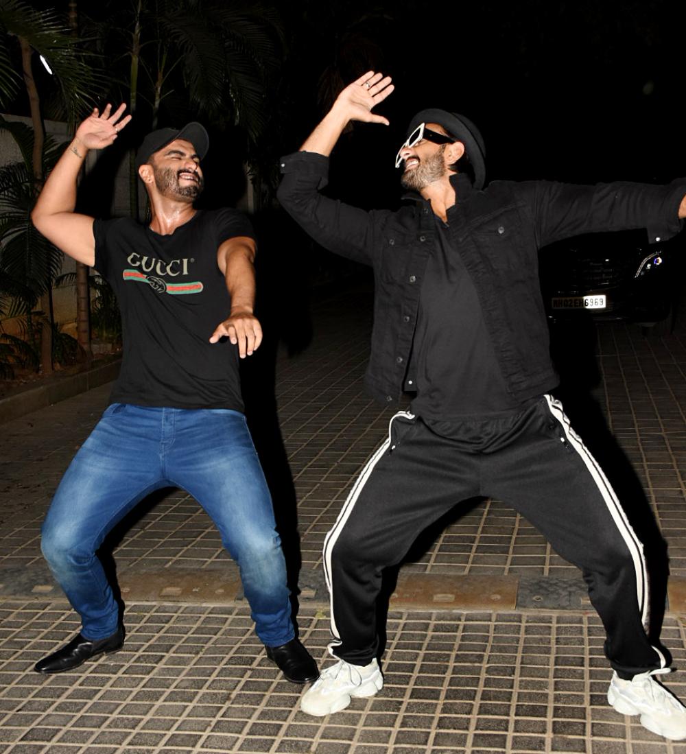 Arjun Kapoor and Ranveer Singh at the screening.