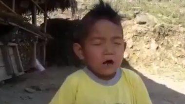 Arunachal Child Singing National Anthem 'Jana Gana Mana' Fumbles Cutely, Melts Hearts of Netizens; Watch Video