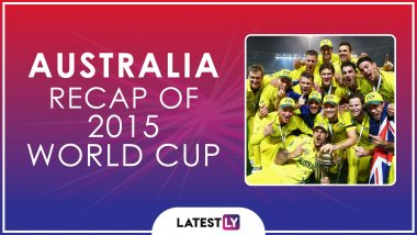 Ahead of ICC Cricket World Cup 2019, Here's a Look Back at How Australia Fared at the Last Edition of the CWC