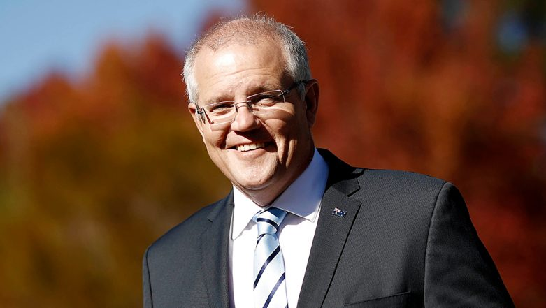 Egg Thrown at Australian PM Scott Morrison While Campaigning in Albury