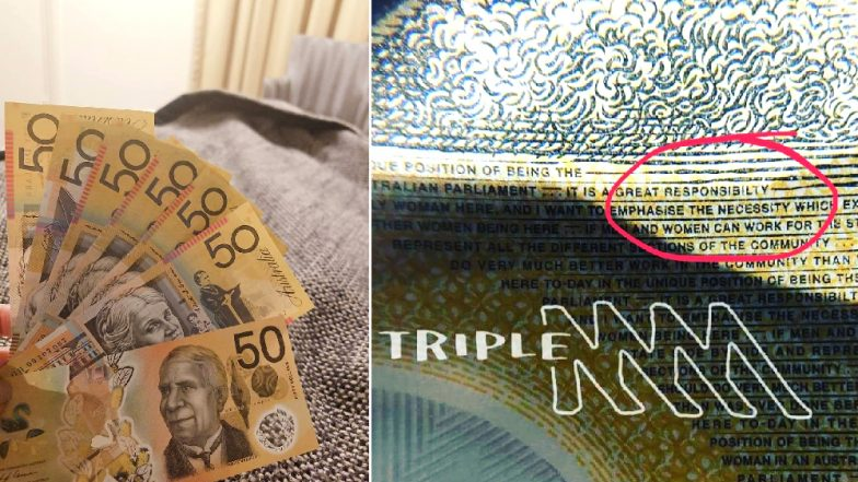 Australia's New $50 Note Has a Spelling Mistake! 'Responsibility' Spelt Wrong on 46 Million Currency Notes
