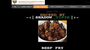 Delhi BJP Website Hacked, Beef Image Appears On Homepage