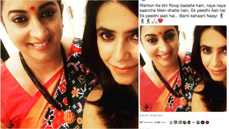 Ekta Kapoor Shares a Special Post Celebrating Smriti Irani's Win in the Lok Sabha Elections 2019 and It Has a Kyunki Saas Bhi Kabhi Bahu Thi Throwback!