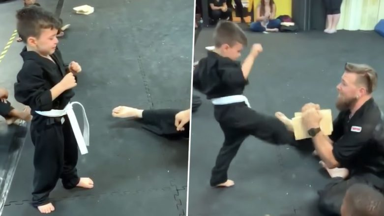 Karate Kid Breaking Tile in Half After Many Attempts As His Friends Cheer On Is All the Inspiration You Need Today! (Watch Video)