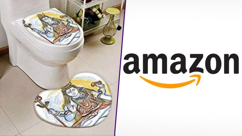 #BoycottAmazon Trends As Online Retail Store Sells Doormats, Toilet Seat Covers Bearing Photos of Hindu Religious Gods