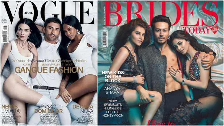 SOTY 2 Actors Tiger Shroff, Ananya Panday and Tara Sutaria's Brides Today Cover Photo Is a Replica of Vogue Brasil; Diet Sabya Point the Similarities