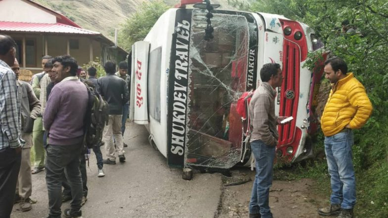 Bus Carrying BJP Workers Overturns in Himachal Pradesh, Seven Injured