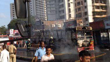 Mumbai: BEST Bus Catches Fire in Goregaon, Passengers Narrowly Escape; Watch Video