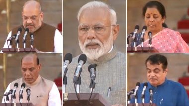 Narendra Modi Cabinet 2.0: Full List of New Ministers Who Took Oath Along With Prime Minister; Portfolios to be Finalised Soon